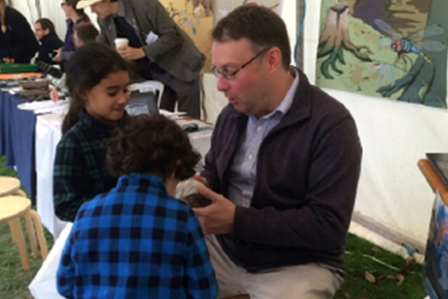 Staff from the University of Leeds at the Yorkshire Fossil Festival