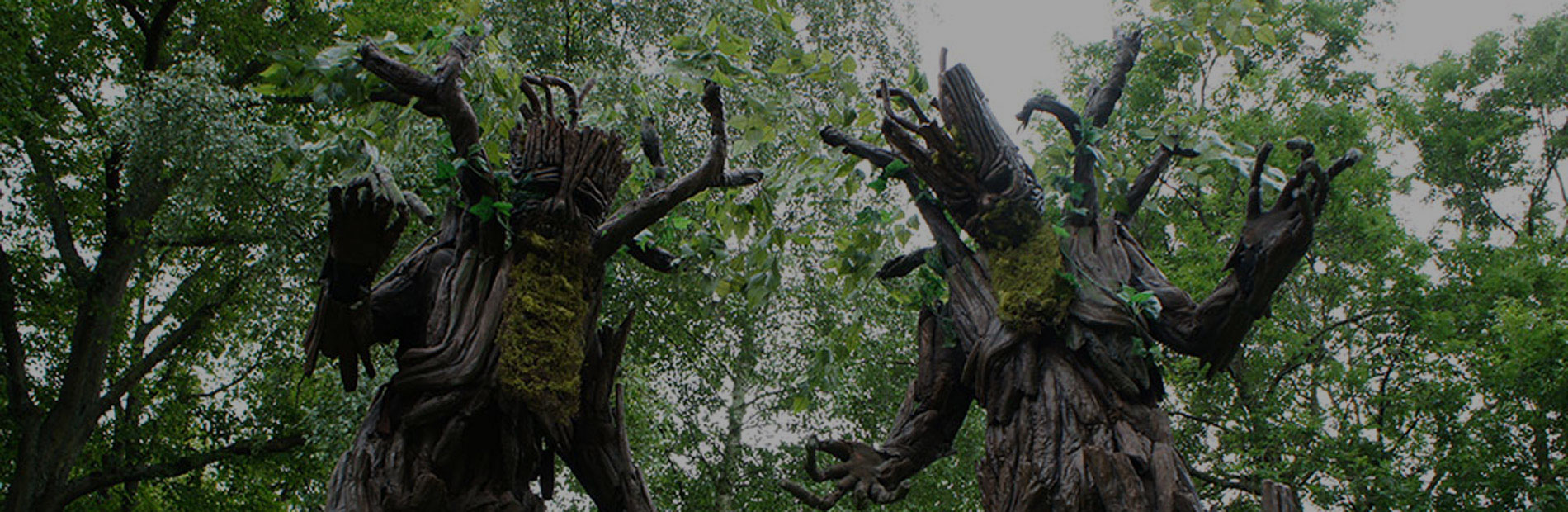 Tree stilt walkers who will be appearing at Yorkshire Fossil Festival
